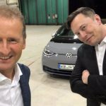 Hebert Diess y Elon Musk