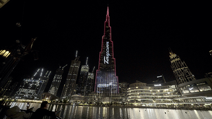 Porsche Taycan Burj Khalifa