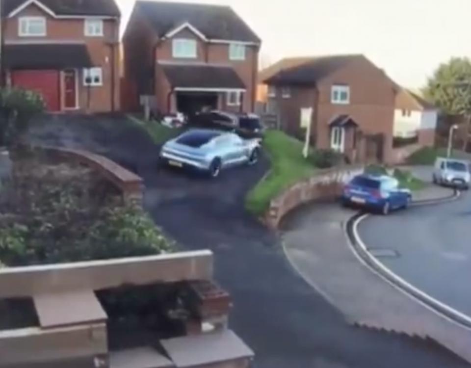 Choque de un Porsche Taycan